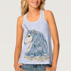 Unicorn Blue Hair Tank Top