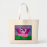 unicorn dragon llama Horse Pegasus Pony Large Tote Bag