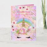 Unicorn Fantasy - Personalized Girls Birthday Card