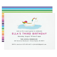 Unicorn Float Pool Party Invitation