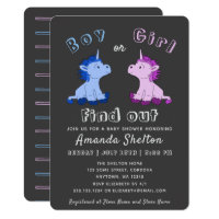 Unicorn Gender Reveal Baby Shower Invitation Card