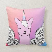 Unicorn Llama cushion