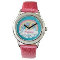 Unicorn Lover Rainbow Personalized Girls Watch