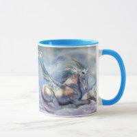 Unicorn Of Peace Art Mug