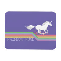 Unicorn Rainbow Road Photo Magnet
