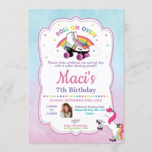unicorn 7th birthday invitations zazzle