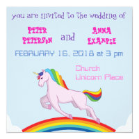 Unicorn Wedding Invitation