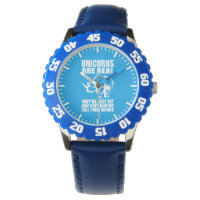 Unicorns Are Real - They're Rhinos - Funny Novelty Wrist Watch
