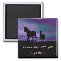 Unicorns Siluet Magnet