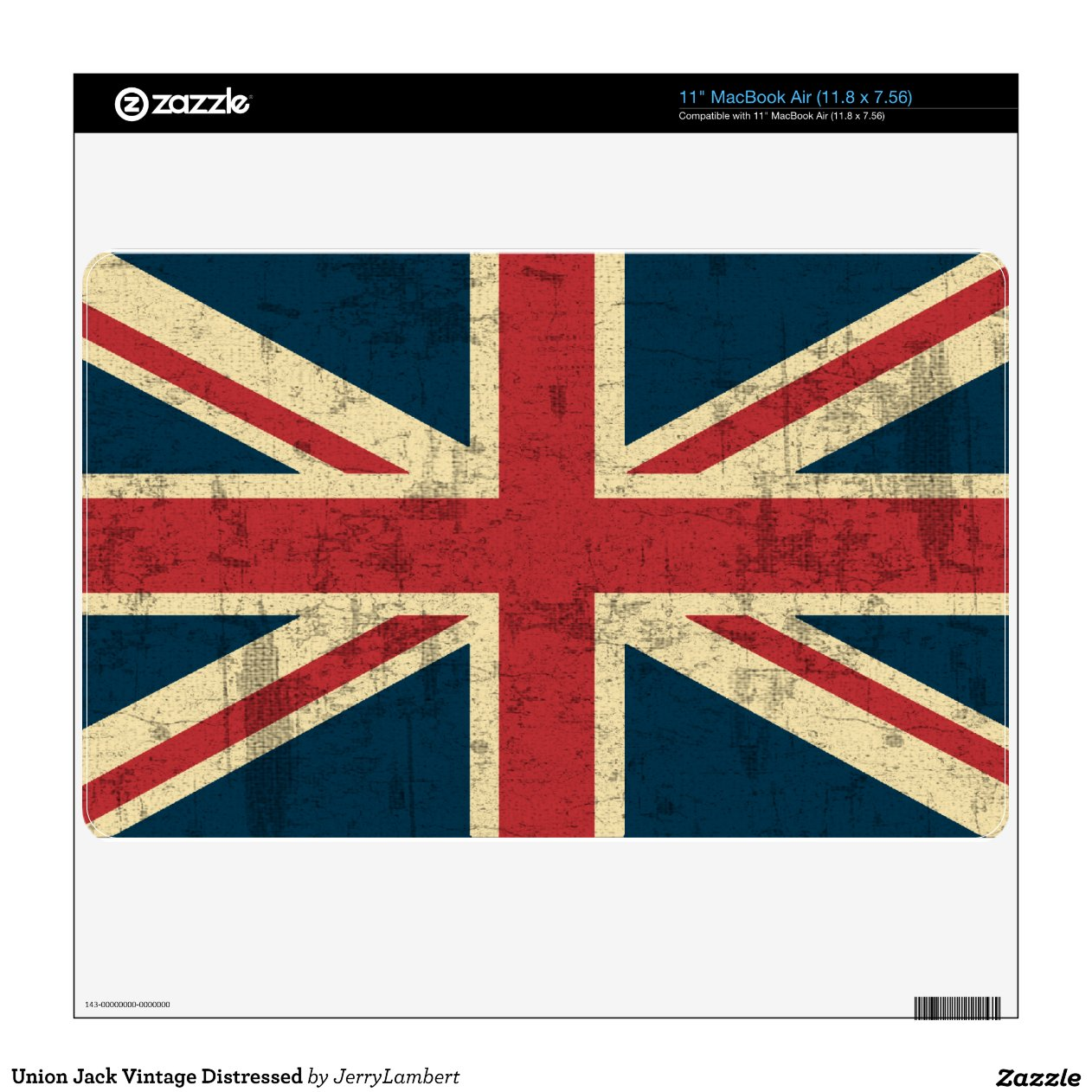 Teppich Union Jack Vintage Union Jack Vintage Distressed Macbook Air Skin