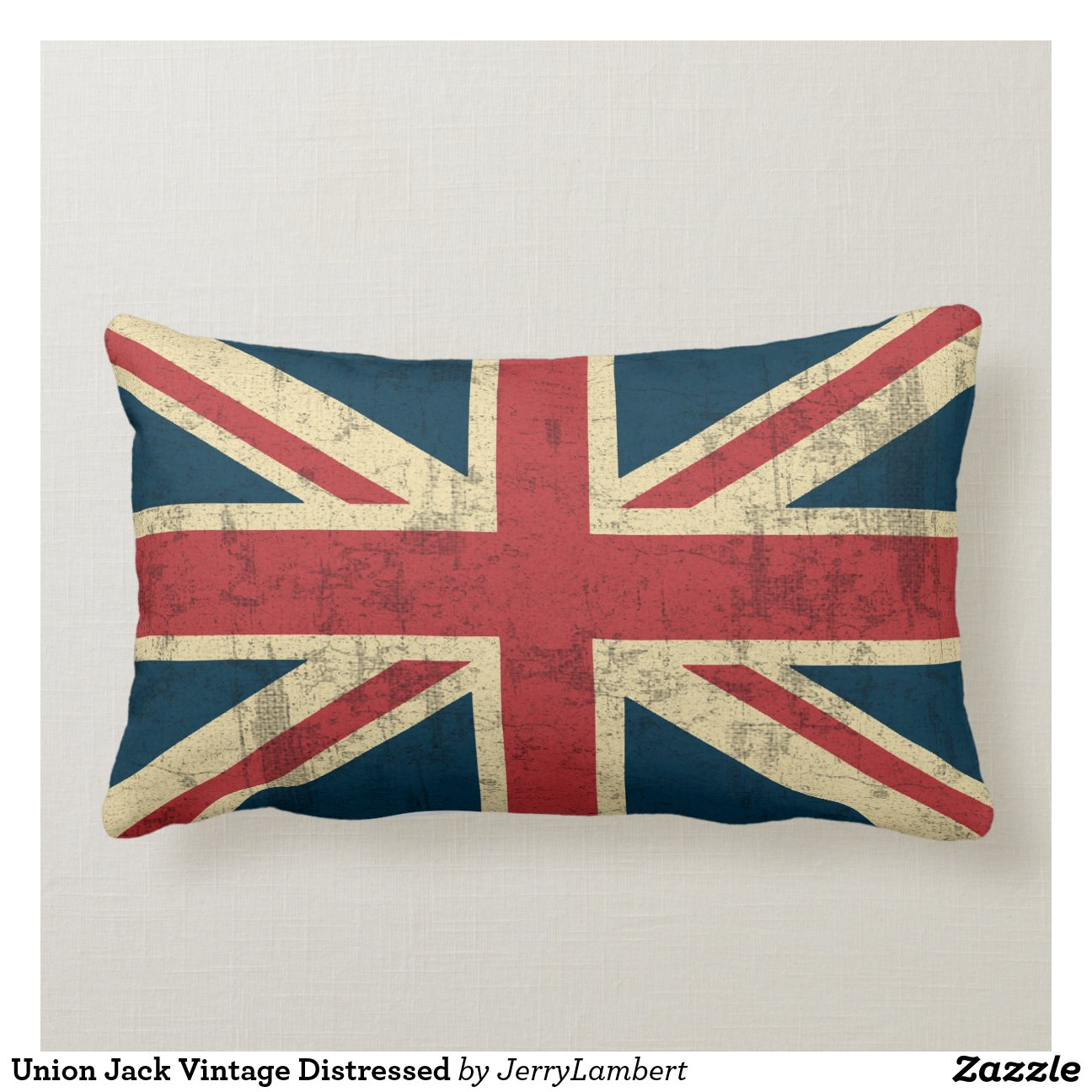 Teppich Union Jack Vintage Union Jack Vintage Distressed Pillow