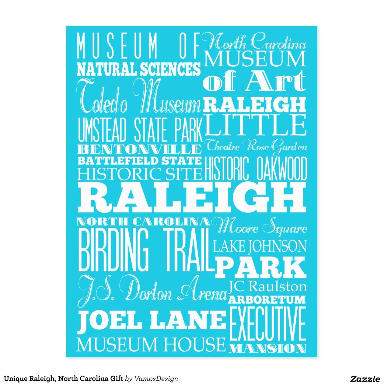Unique Raleigh North Carolina Gift Postcard Zazzle