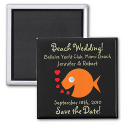 Cute Beach Save the Date Magnets