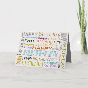 multicolor happy birthday text