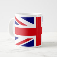 UNITED KINGDOM British Flag Union Jack EXTRA LARGE MUGS on Zazzle