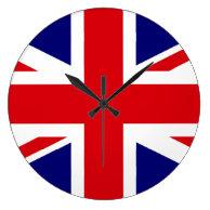 UNITED KINGDOM British Flag Union Jack WALL CLOCK on Zazzle