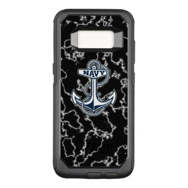 United States Naval Academy Black Marble OtterBox Commuter Samsung Galaxy S8 Case