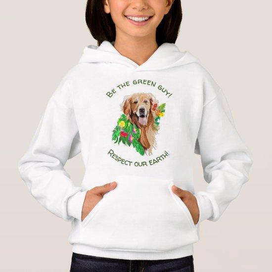 Upbeat Golden RetrieverNature Sweatshirt for Girls