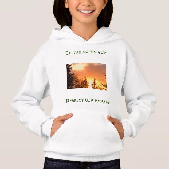 Upbeat Sunset Nature Sweatshirt for Girls