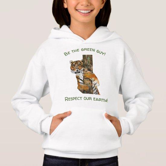 Upbeat Tiger  Nature Sweatshirt for Girls