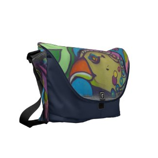 Urban Bird Graffiti Messenger Bags