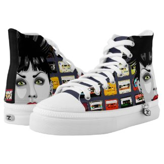 Urban Mixtape Zip High Tops Printed Shoes