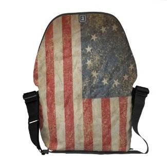 US Flag 1776 Courier Bags