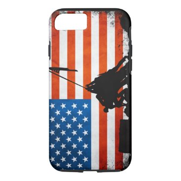 US Flag with Veterans Silhouettes iPhone 8/7 Case