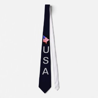 USA American Flag Men's Tie 8 CricketDiane Designs