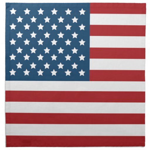 USA American Flag Stars and Stripes Cloth Napkin