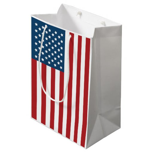 USA American Flag Stars and Stripes Medium Gift Bag