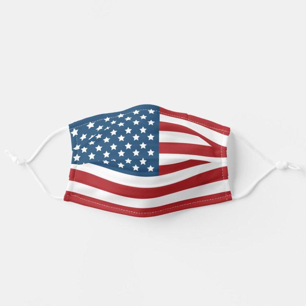 USA American Patriotic Flag Cloth Face Mask