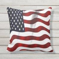 USA Flag Outdoor Pillow | Zazzle