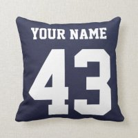 USA Hockey Logo Pillow with Name and Number | Zazzle