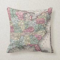 United States Map Pillows - Decorative & Throw Pillows ...