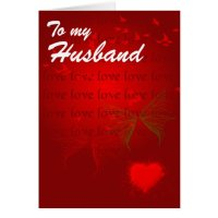 Valentine Red Hearts for Husband Greeting Card | Zazzle
