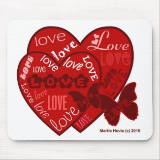 Valentine's Day Hearts & Love Mousepad (2) mousepad