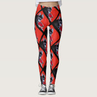 Valentine's Siberian Husky dog art leggings