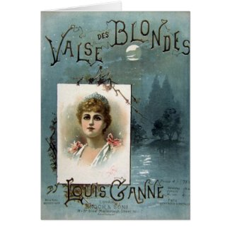 Valse des Blondes Card