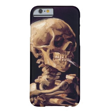 Van Gogh Skull with Burning Cigarette Barely There iPhone 6 Case