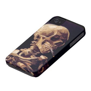 Van Gogh Skull with Burning Cigarette iPhone 4 Case