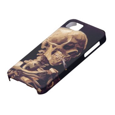 Van Gogh Skull with Burning Cigarette iPhone SE/5/5s Case