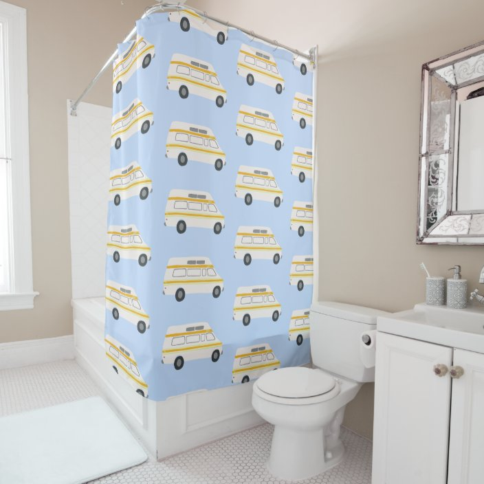 vanlife vintage rv motorhome camper shower curtain zazzle com
