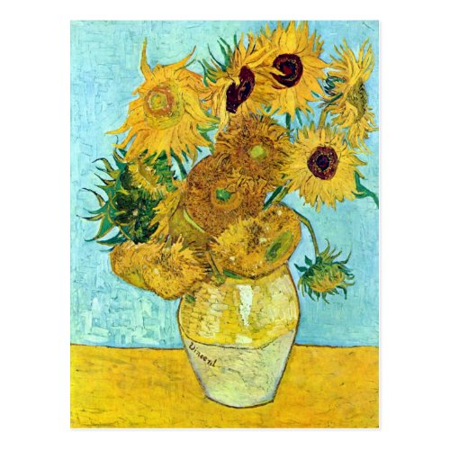 Vase With Twelve Sunflowers By Vincent Van Gogh Postcard