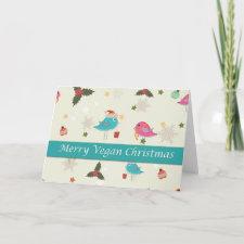 Vegan Christmas cards card