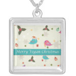 Vegan Christmas Gifts Silver Plated Necklace