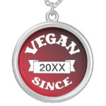 Vegan Since Pendant Necklace