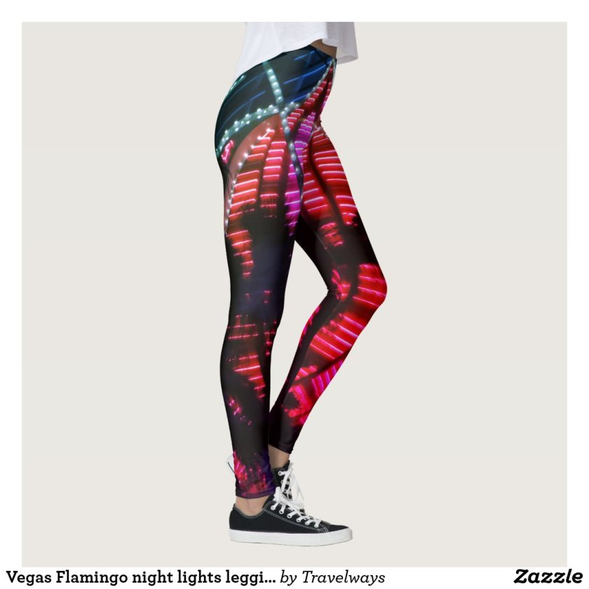 Vegas Flamingo night lights leggings