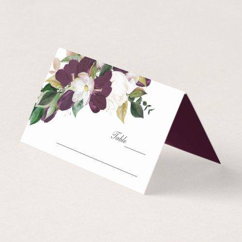 Velvet Magnolia Flowers monogram Wedding Business Card