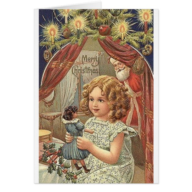 Victorian Christmas Greeting Card Zazzle